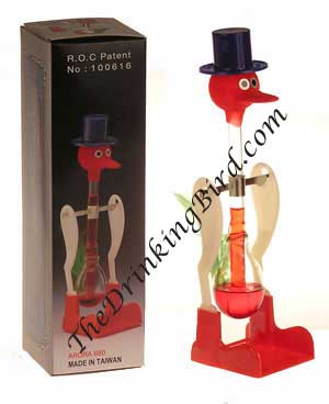 Happy Dippy Drinking Bird - Red